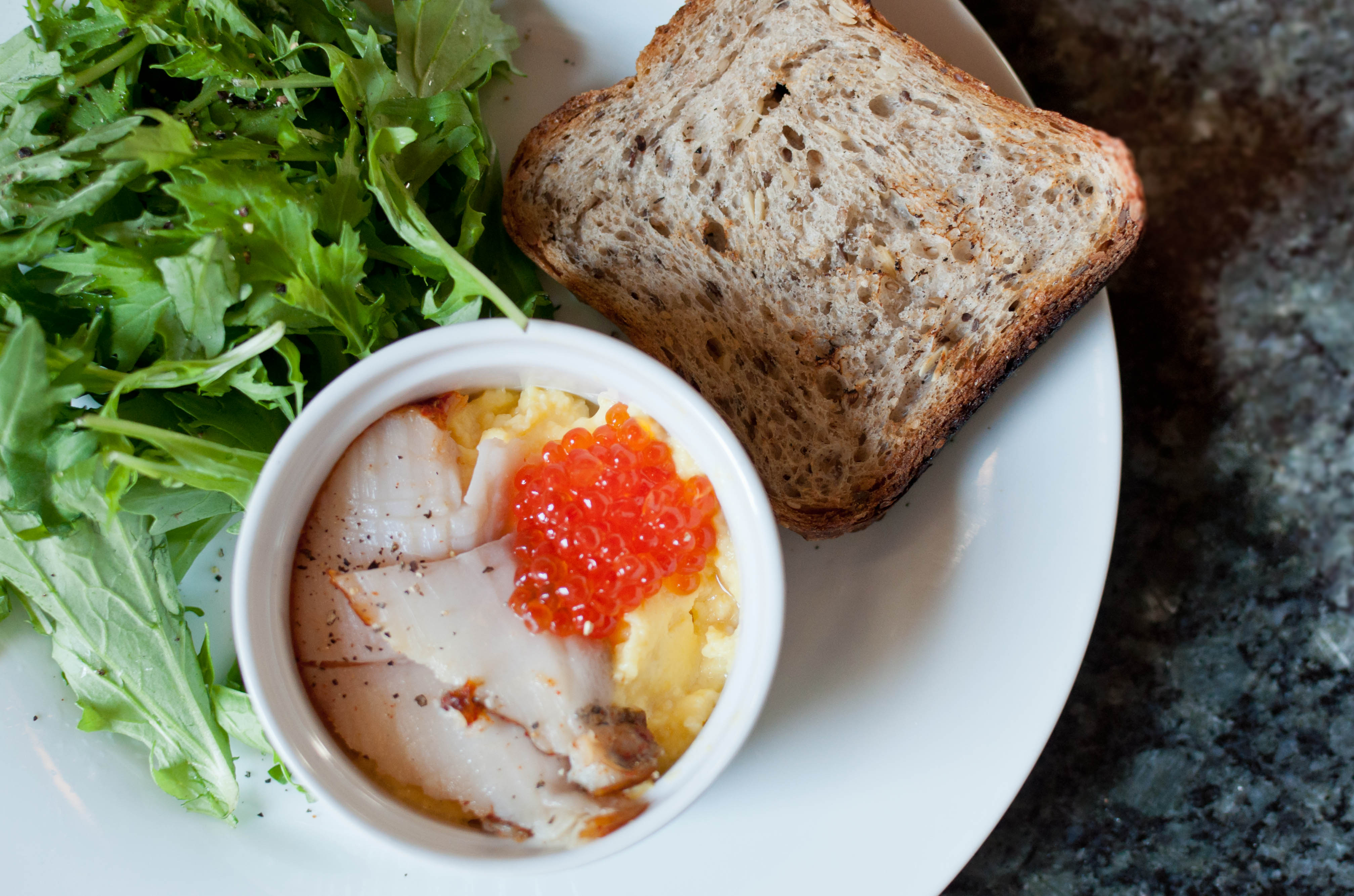 ... : Soft Scrambled Eggs, Sable and Salmon Roe | Sometimes I Crave
