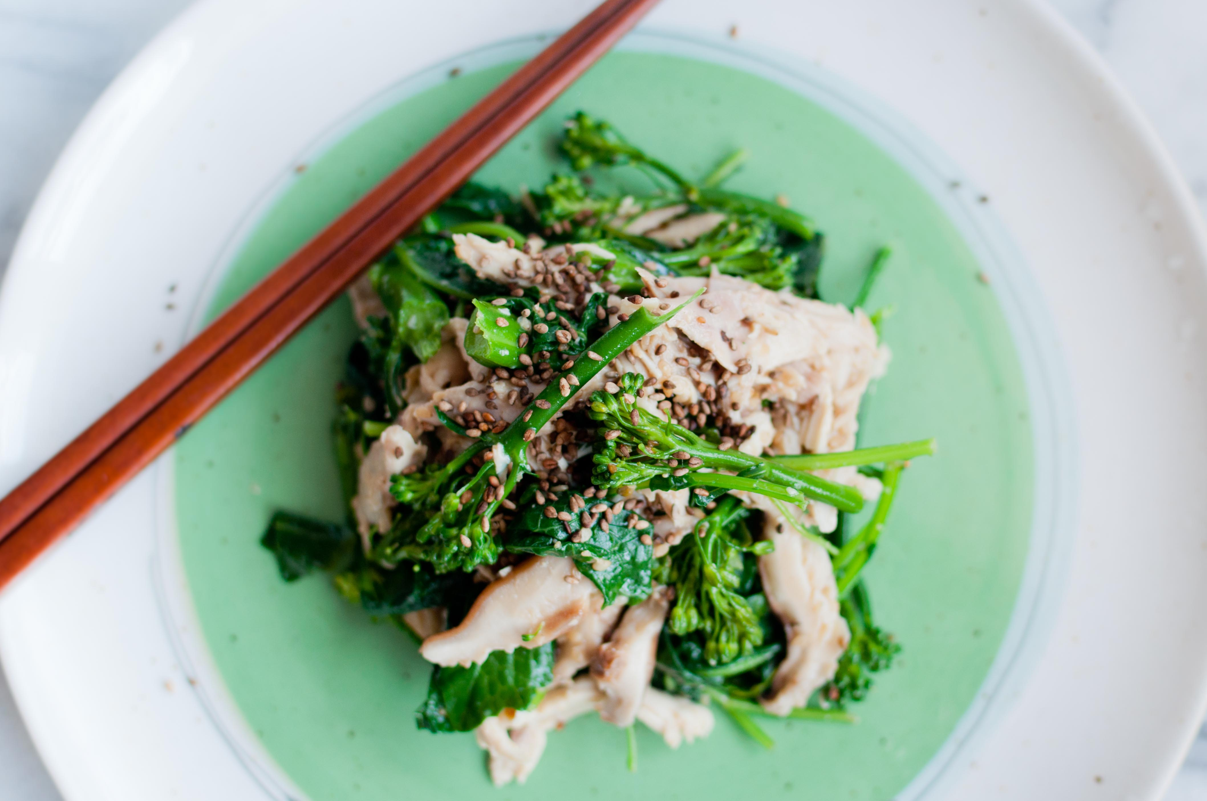 Chicken Salad With Sesame-Miso Dressing Recipe — Dishmaps